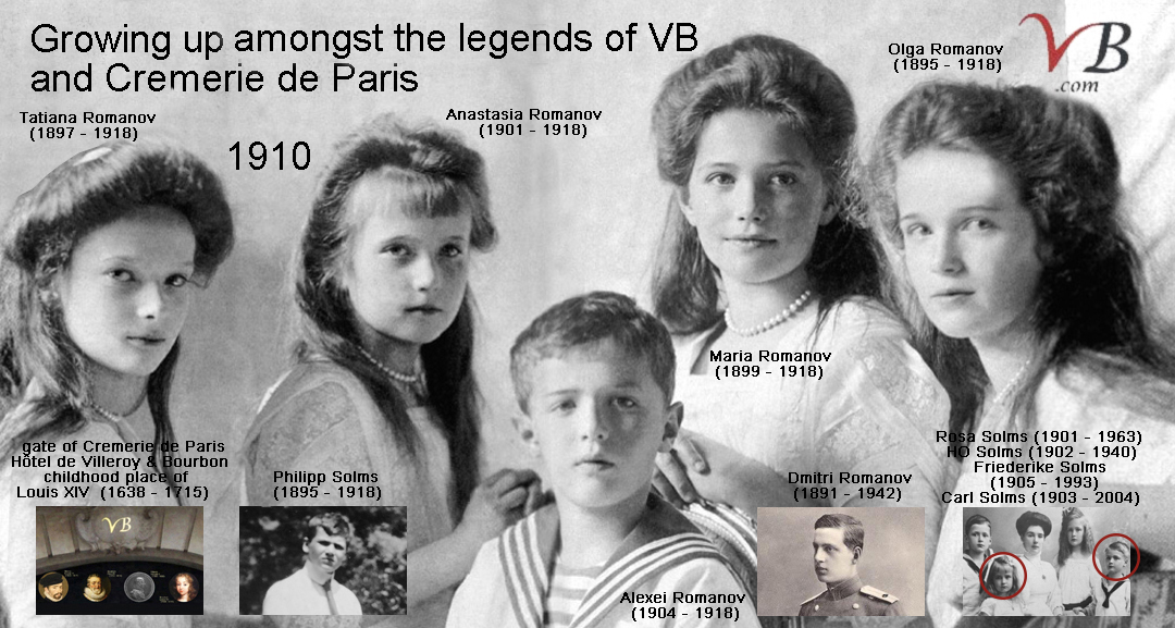 Romanov children 1910