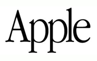 Apple Text Logo