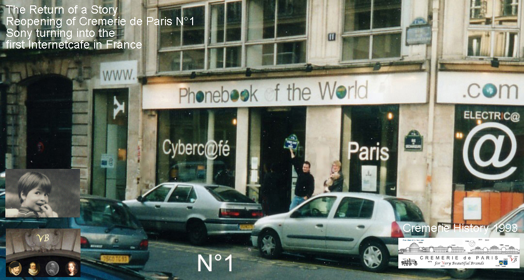 Cremerie de Paris, once the first Internet Cafe in France, a place where American Internet pioneers met while traveling