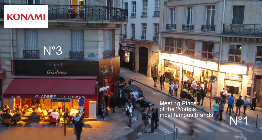 Launch of the Video Game Metal Gear Solid V at Cremerie de Paris N°1 and N°3, Pop Up Store and Pop Up Cafe