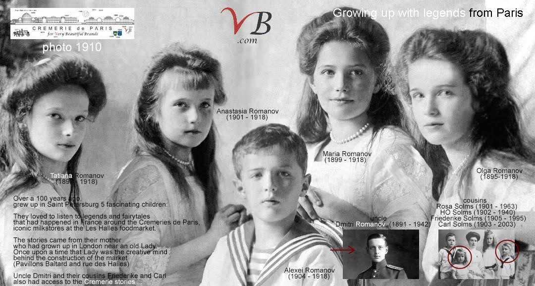 The Romanov Children loved the legends about the Cremeries de Paris