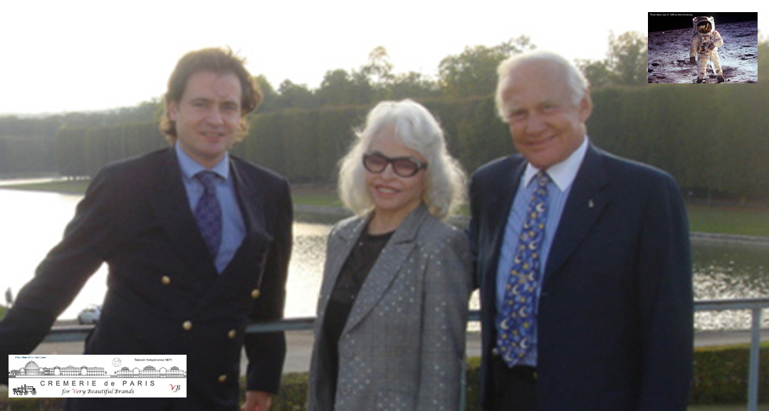 The man from the first flight to the moon with Lois Aldrin and Ben Solms, 2005