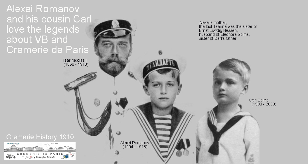 Carl Solms as a child with Alexei Romanov and the Tsar