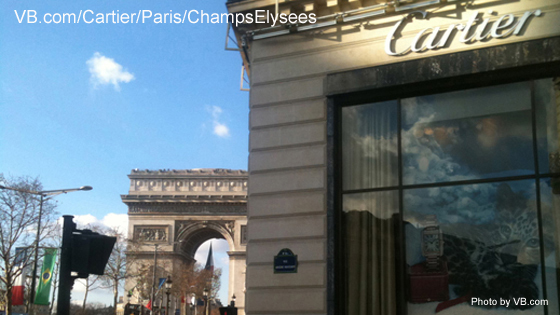 Boutique Cartier Paris, 154 avenue des Champs Elysees