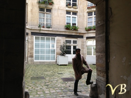 courtyard of the Cremerie de Paris ... spirit of Telecommunications is still around
