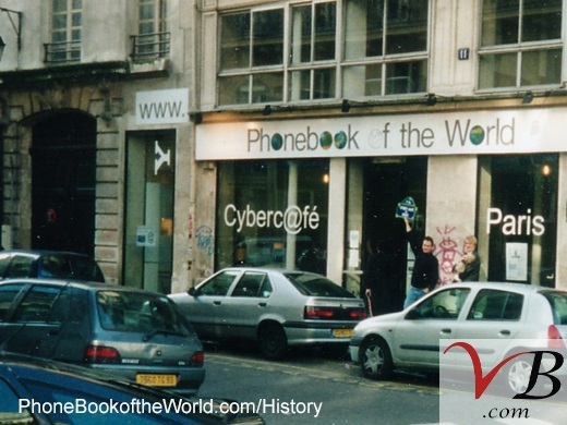 Cybercafe de Paris, webcafe from the early years of the Internet where were invented the Phone Book of the World and the White pages of many countries, today the Cremerie de Paris