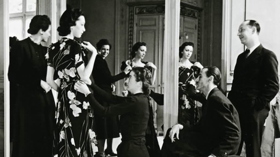 Christian Dior working for Robert Piguet