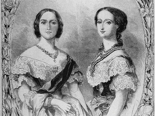 Queen Victoria and Empress Eugenie