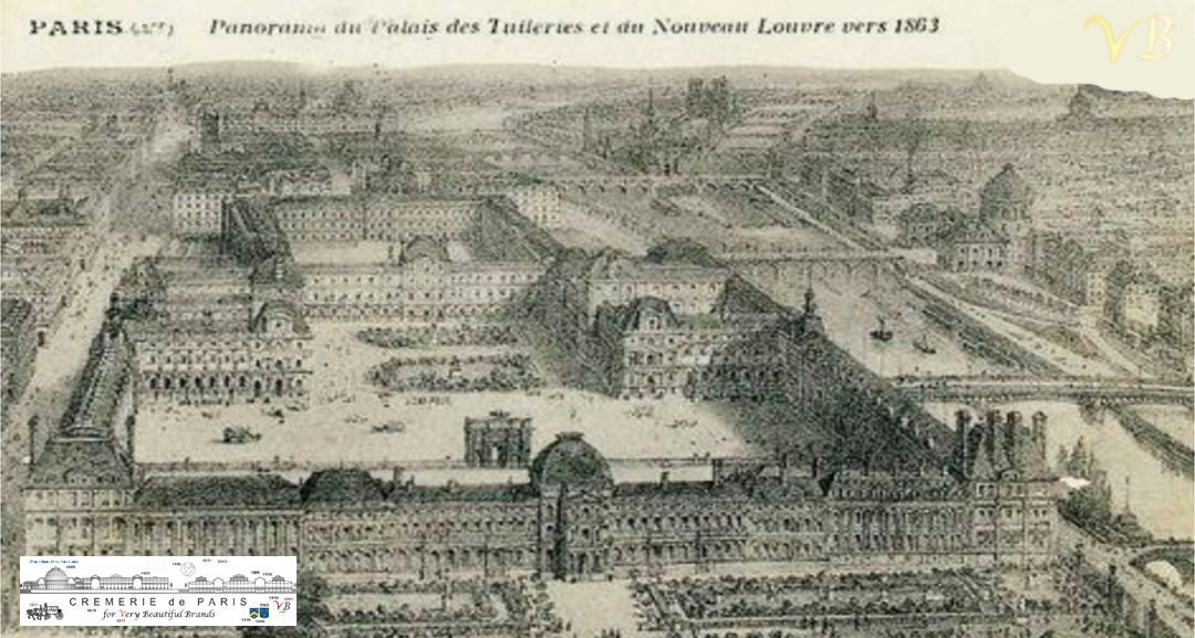 Palais des Tuileries and new Louvre