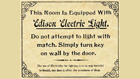 Sign for Edison Electric Light