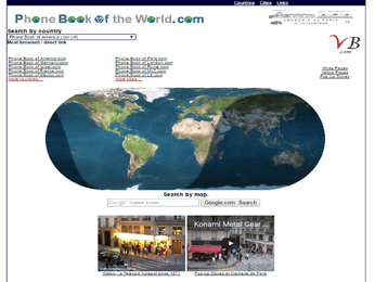 Phonebook of the World.com a domain registered at the Cremerie de Paris