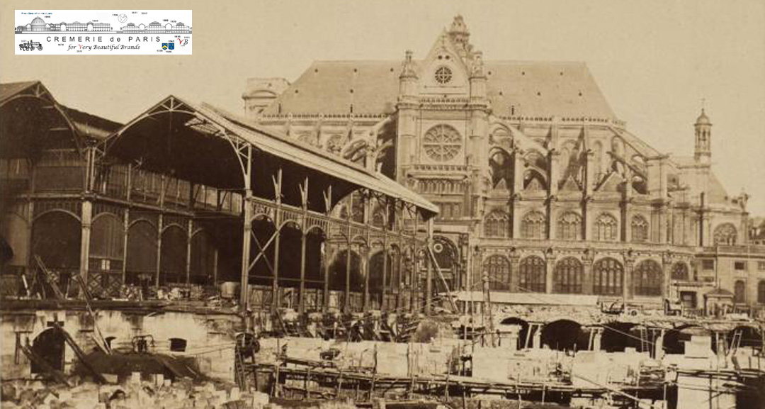 Construction of the Pavillons Baltard