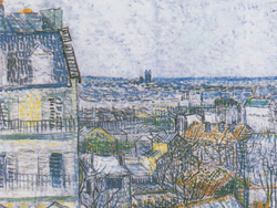 View towards les Halles by Vincent van Gogh